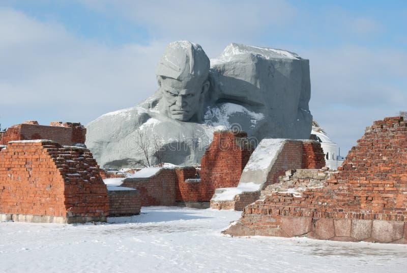 monument för strömförsörjning för brest fästninghjälte royaltyfri bild