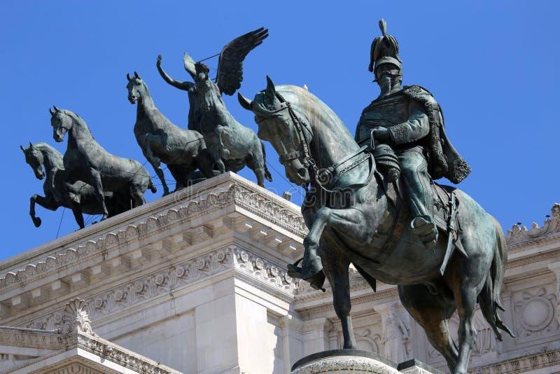 Monument för Victor Emenuel II, i Rome, Italien royaltyfri bild