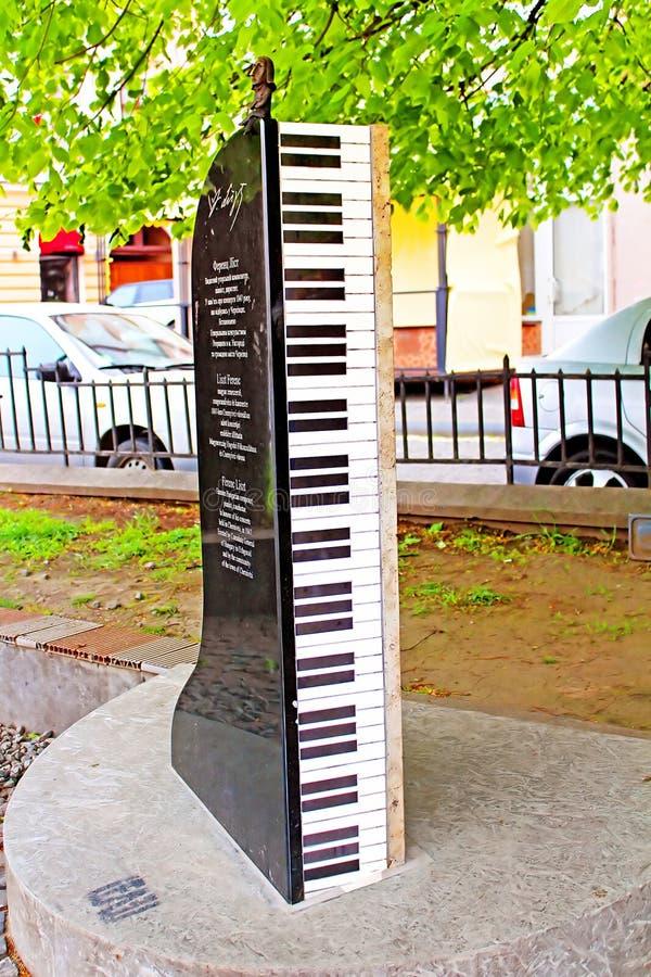 Monument für Ferenc Liszt, Chernivtsi lizenzfreie stockfotografie