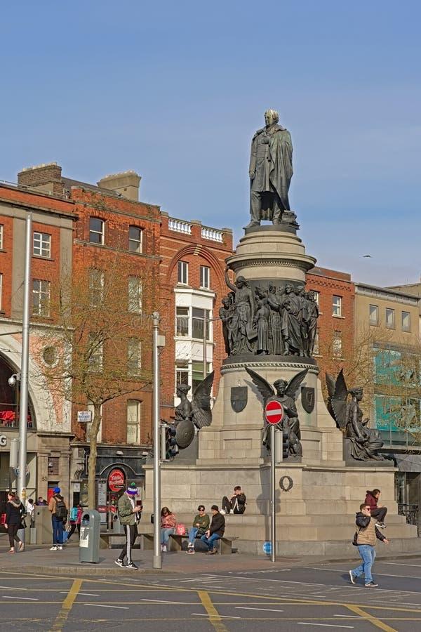 Monument f?r Daniel nolla-?connel i Dublin royaltyfri fotografi