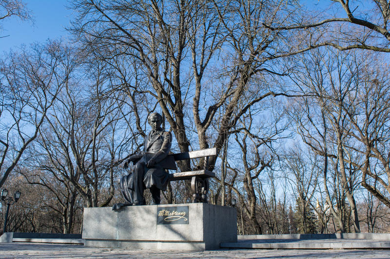 Monument of the famouse ukrainian writer Taras Shevchenko in Ukraine. Sculpture of the famouse ukrainian writer Taras Shevchenko in Ukraine stock images