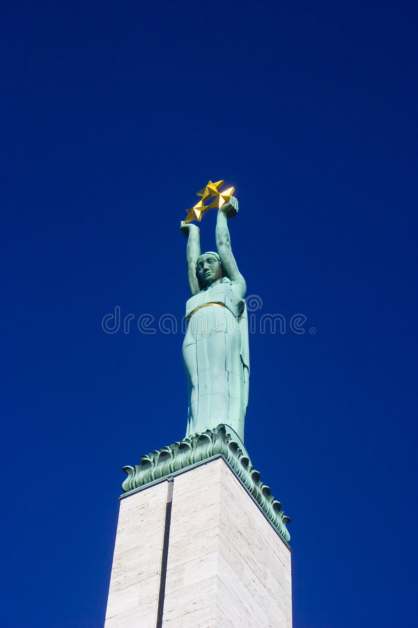 Monument of Freedom in Riga royalty free stock photography