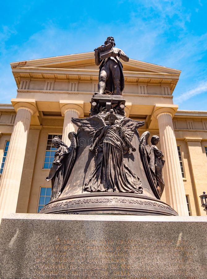 Monument in front of the Louisville Metro Hall - LOUISVILLE, USA - JUNE 14, 2019. Monument in front of the Louisville Metro Hall - LOUISVILLE, KENTUCKY - JUNE 14 stock images