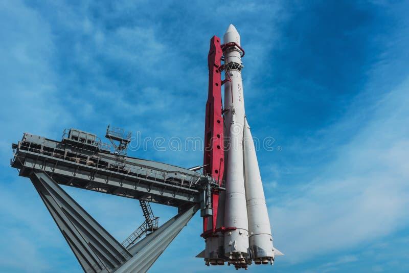 Monument - fusée de Vostok photos libres de droits