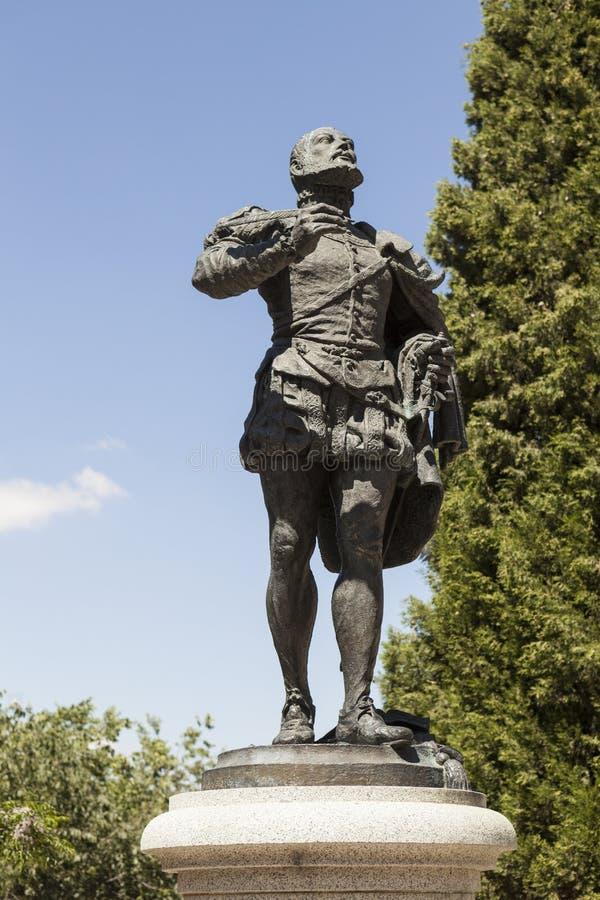 Monument Garcilaso de la Vega. Toledo, Spain royalty free stock image