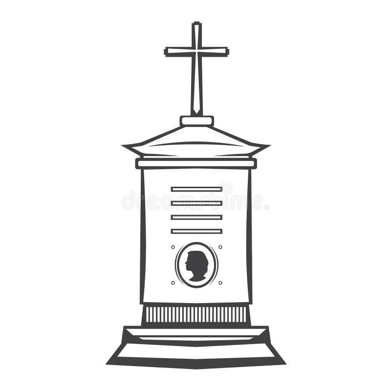 monument grave de pierre tombale illustration libre de droits