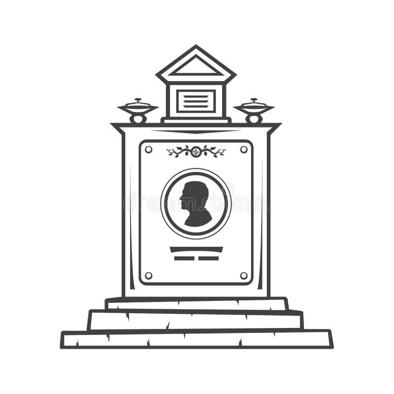 monument grave de pierre tombale illustration de vecteur