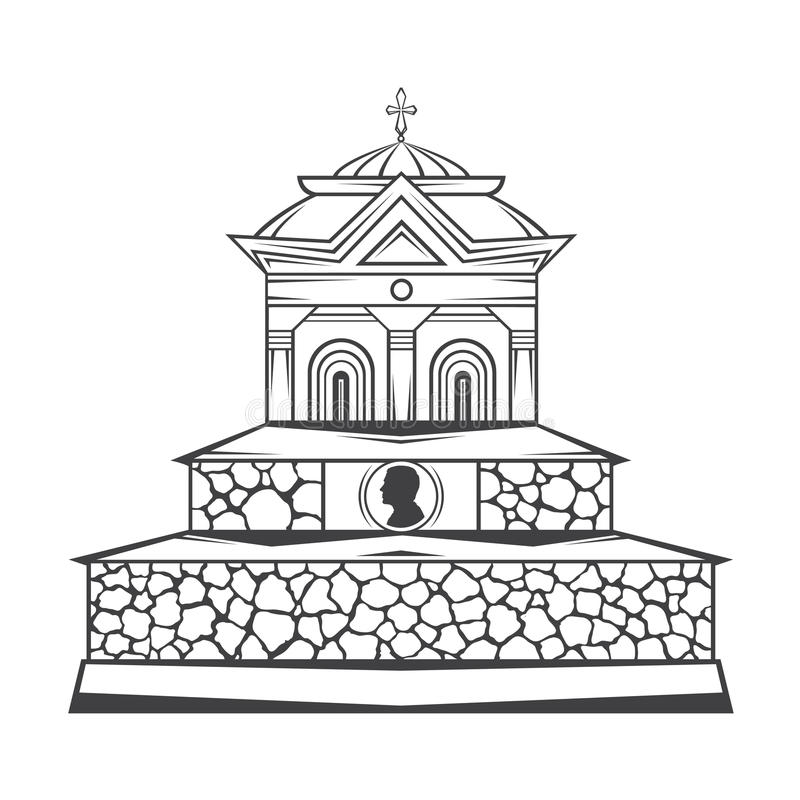 monument grave de pierre tombale illustration stock