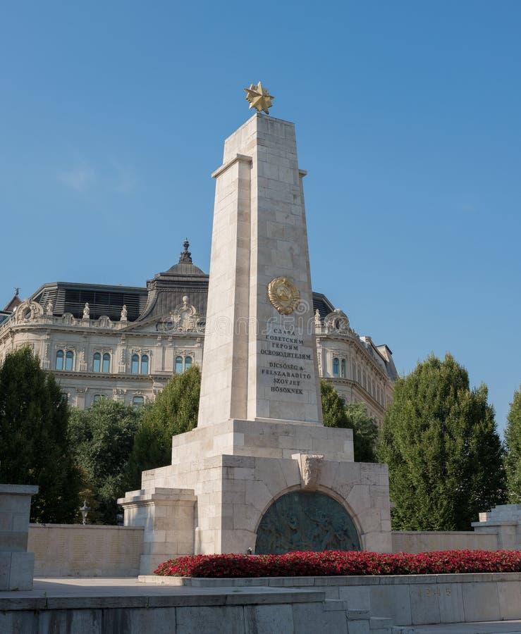 Monument héroïque soviétique - Budapest images libres de droits