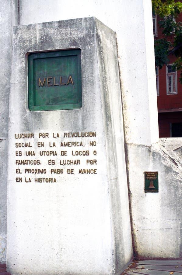Monument in Havana, Kuba zu Mella stockbilder