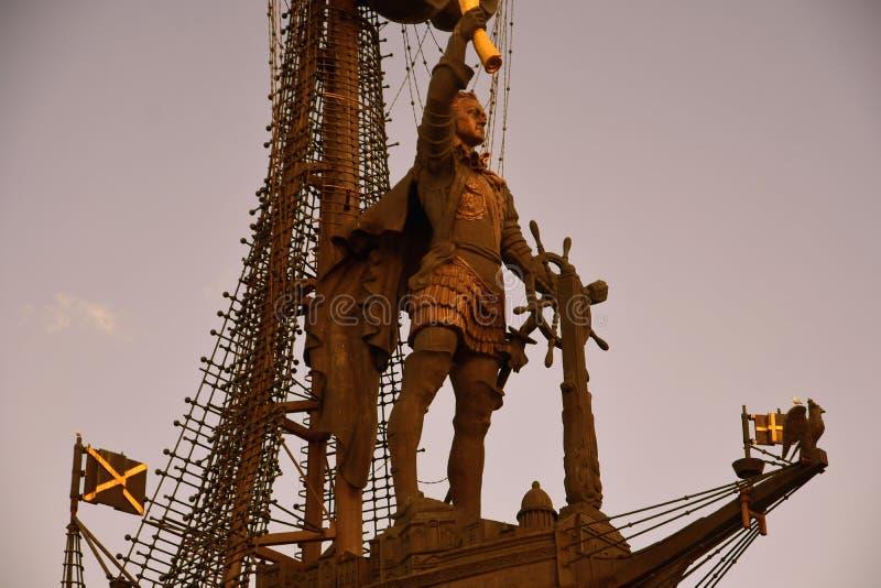 Monument in herdenking van de 300ste verjaardag van de Russische Marine stock foto