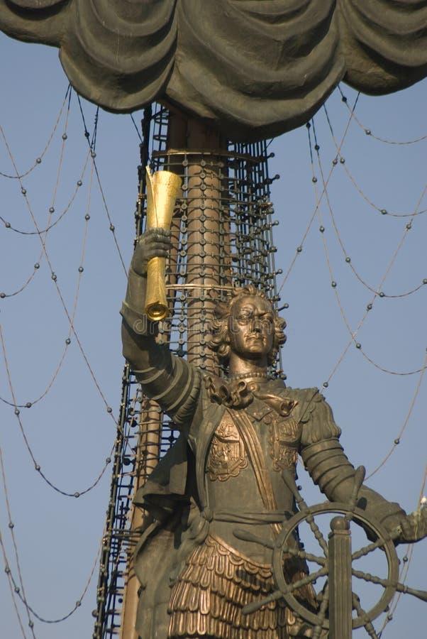 Monument in herdenking van de 300ste verjaardag van de Russische Marine royalty-vrije stock afbeelding