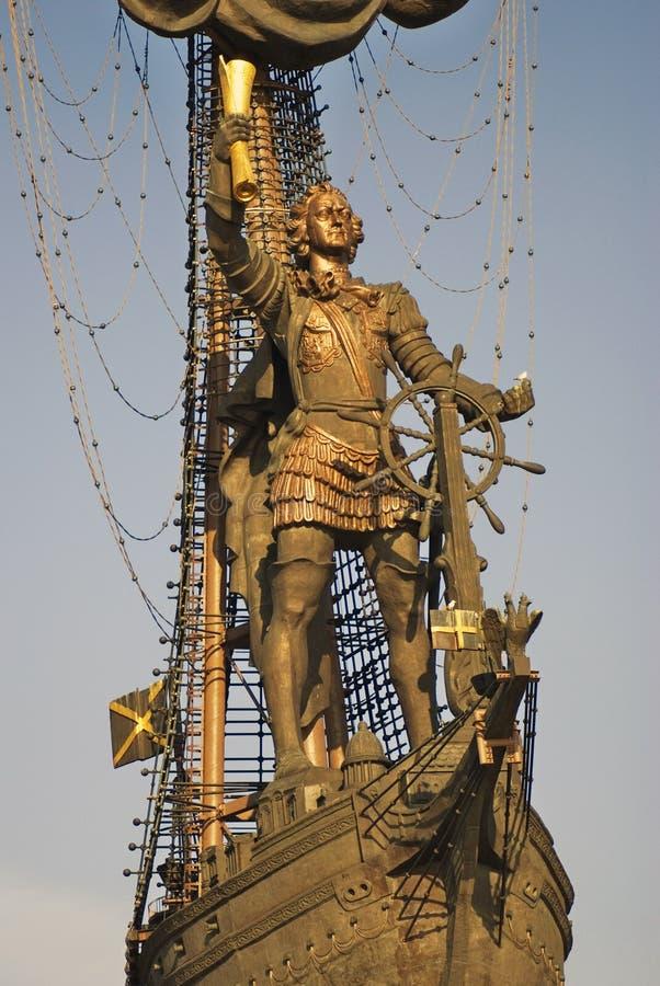 Monument in herdenking van de 300ste verjaardag van de Russische Marine royalty-vrije stock fotografie