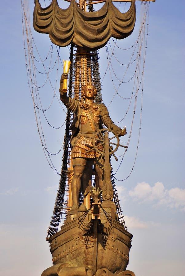 Monument in herdenking van de 300ste verjaardag van de Russische Marine royalty-vrije stock foto