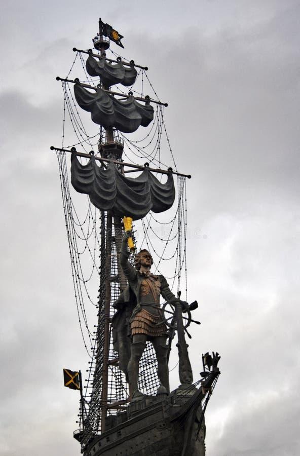 Monument in herdenking van de 300ste verjaardag van de Russische Marine royalty-vrije stock afbeeldingen