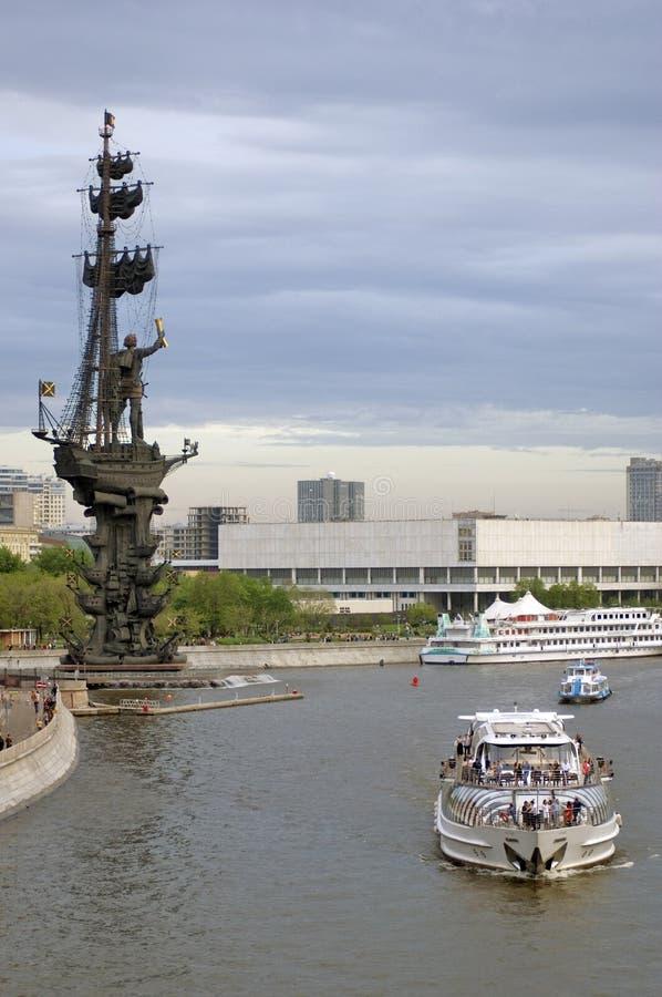 Monument in herdenking van de 300ste verjaardag van de Russische Marine stock afbeeldingen