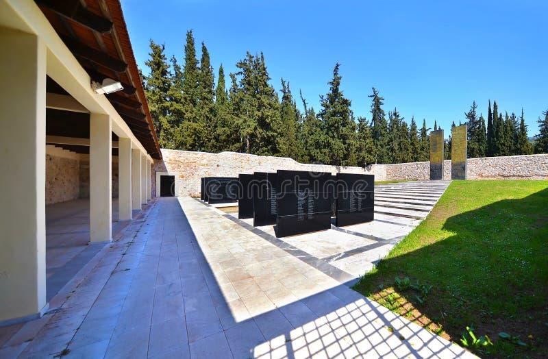 Monument historique Grèce de champ de tir de Kaisariani photo stock
