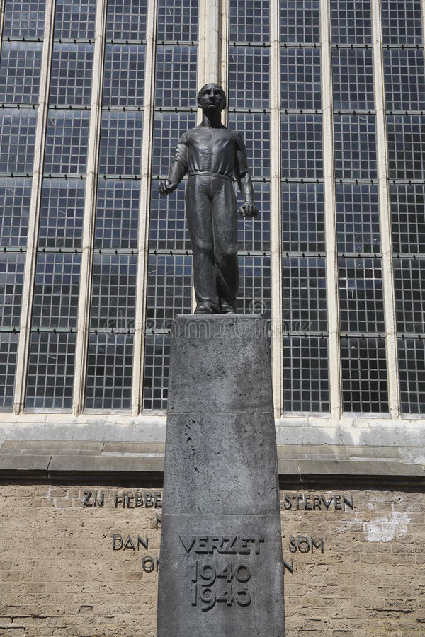 Monument in honor of the Dutch resistance during World War II, Deventer, The Netherlands stock image