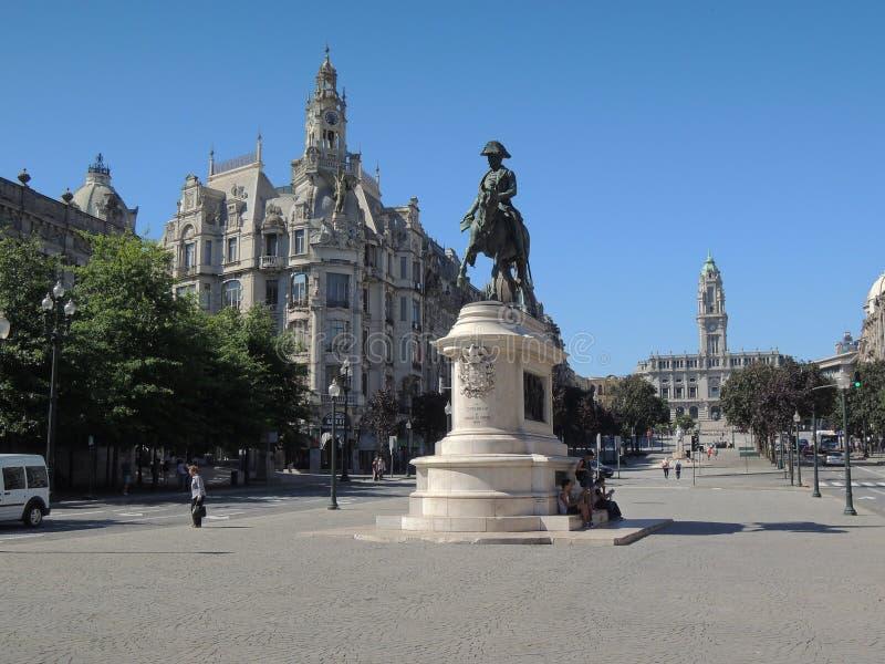 Monument i den Lisbonne staden royaltyfria bilder