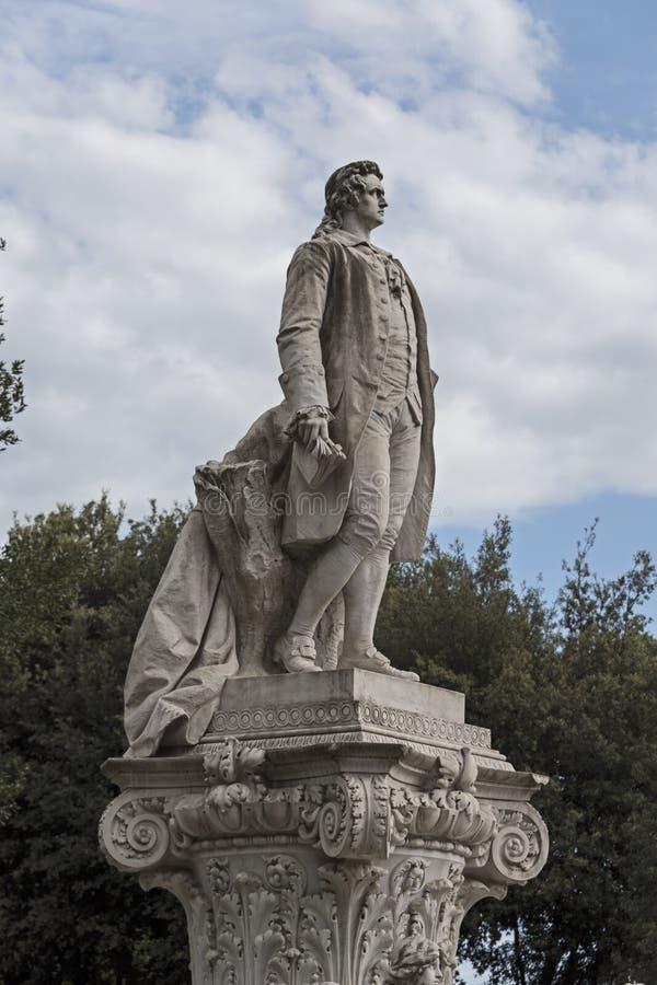 Monument i heder av Johann Wolfgang von Goethe royaltyfria bilder
