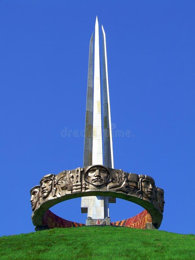 Monument i Minsk Vitryssland royaltyfri bild