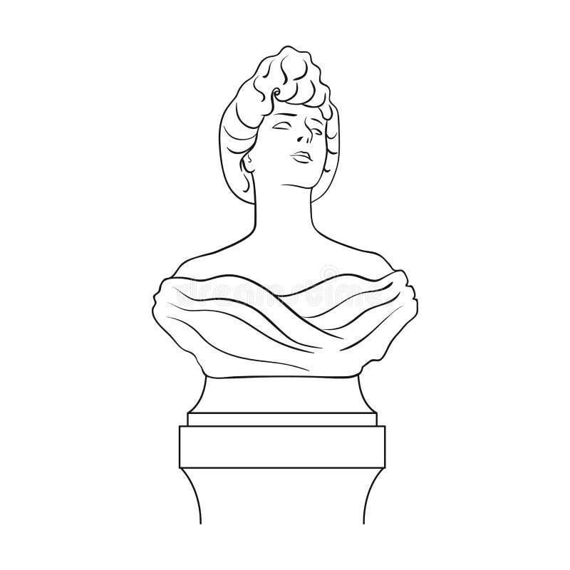 Monument, icône simple dans le style d'ensemble Web d'illustration d'actions de symbole de vecteur de monument illustration de vecteur