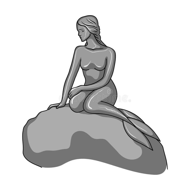 Monument, icône simple dans le style monochrome Monument, Web d'illustration d'actions de symbole de vecteur illustration stock