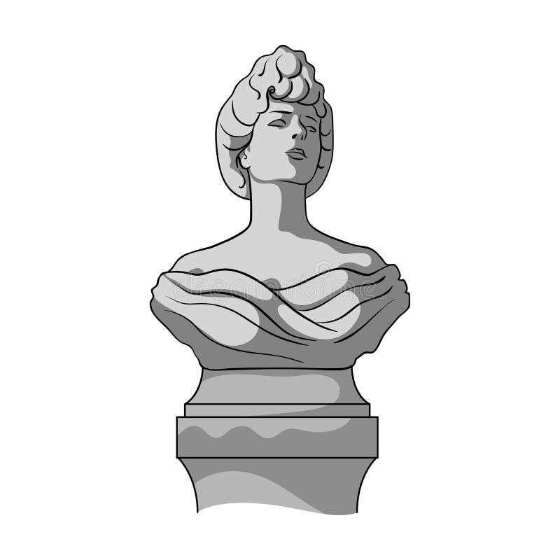 Monument, icône simple dans le style monochrome Web d'illustration d'actions de symbole de vecteur de monument illustration de vecteur