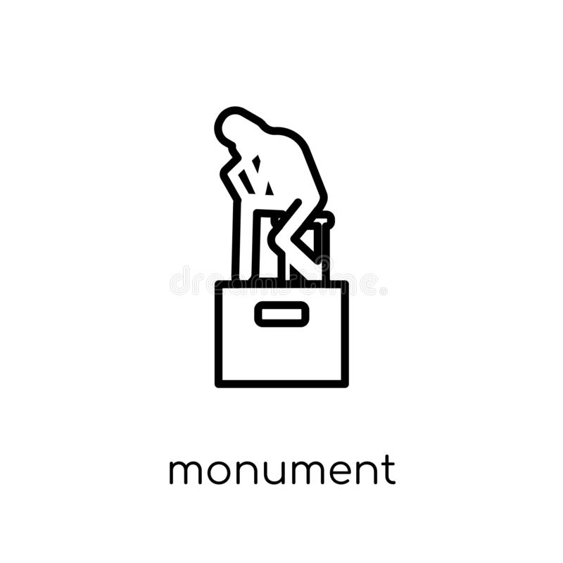 Monument icon. Trendy modern flat linear vector Monument icon on vector illustration