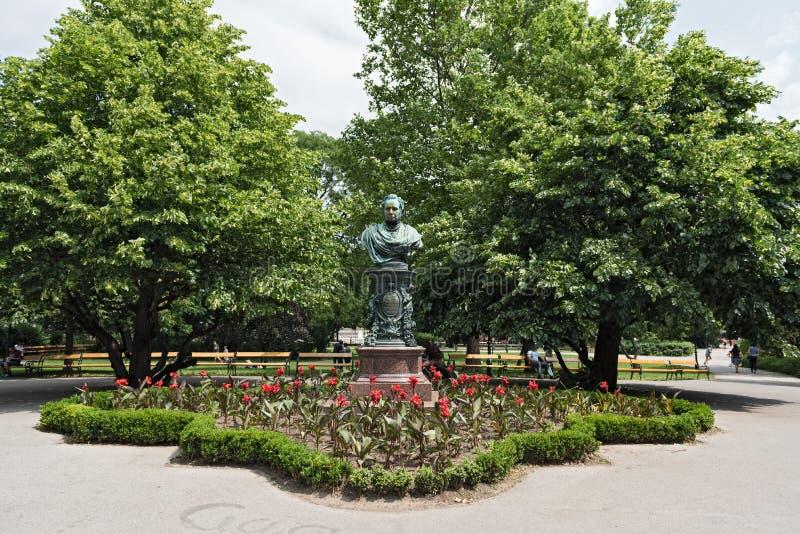 Monument im Wien-Stadt-Park durch Bürgermeister Andreas Zelinka, Wien, Österreich stockfoto