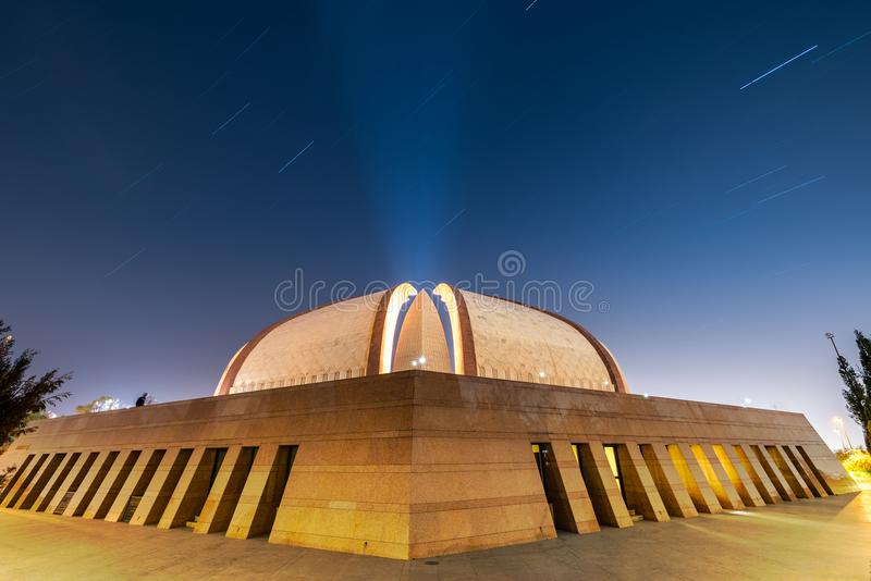 Star trail Pakistan Monument stock images