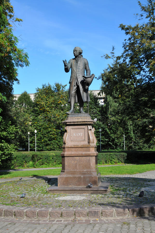 Monument of Immanuel Kant, German philosopher. KALININGRAD, RUSSIA - SEPTEMBER 4: Monument of Immanuel Kant, German philosopher, founder of German classical stock photography