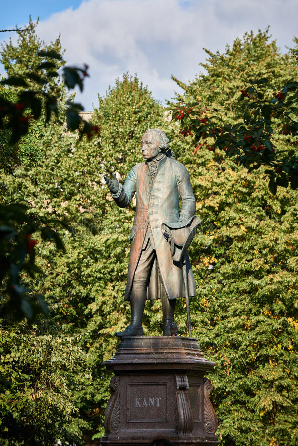 Monument of Immanuel Kant. Kaliningrad. KALININGRAD, RUSSIA - SEPTEMBER 18, 2015: Monument of Immanuel Kant, German philosopher, founder of German classical stock images