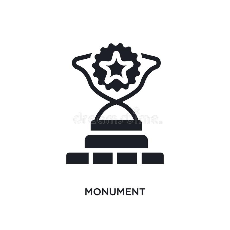 monument isolated icon. simple element illustration from success concept icons. monument editable logo sign symbol design on white vector illustration