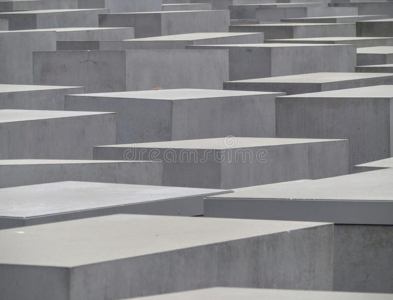 Monument of Jews murdered in Europe during the second world war, victims of Holocaust. Berlin. Germany. June 2015 stock photos