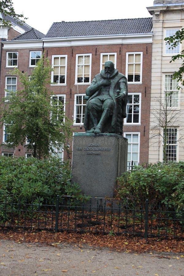 Monument Johan van Oldenbarnevelt in Hague - the Netherlands royalty free stock photos