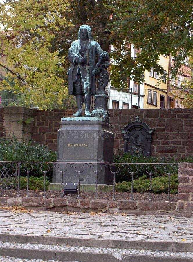 Monument Johann Sebastian Bach stock image
