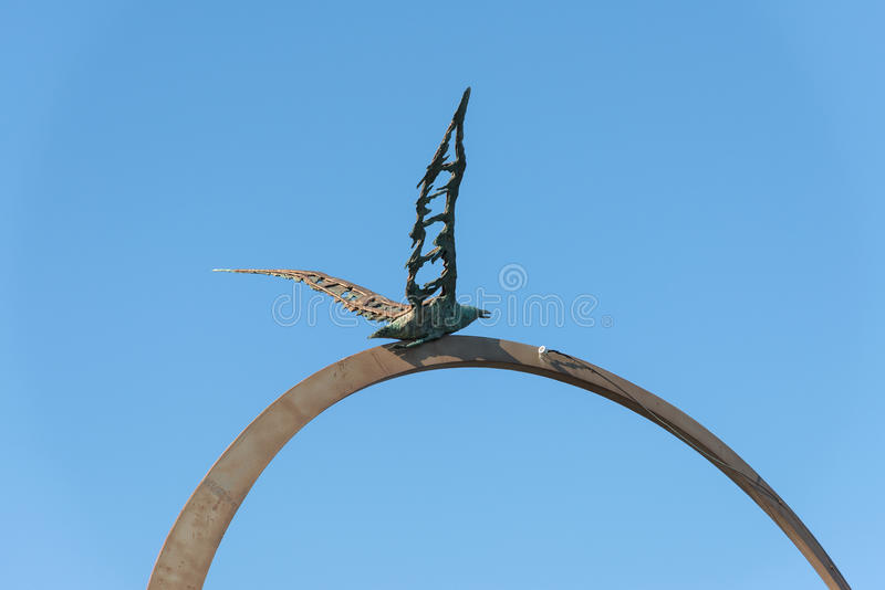 Monument Jonathan Livingston - S Bendetto del Tronto - service informatique photo stock