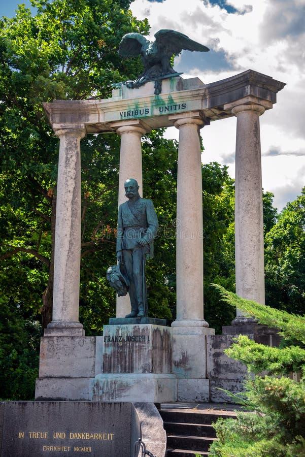 Monument of Josef I, Wiener Neustadt, Austria. Monument of Josef I, Emperor of Austrian Monarchie, in Park of the Theresian Military Academy in Wiener Neustadt stock image