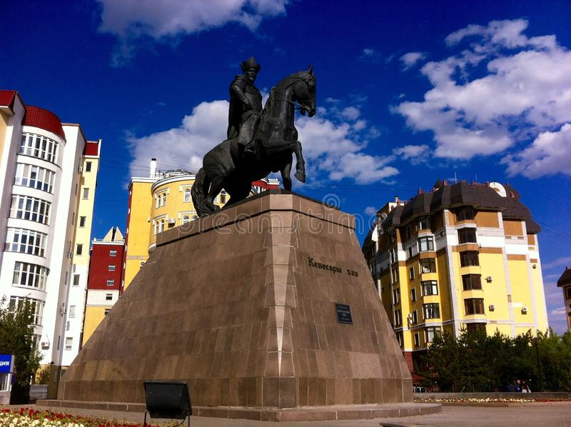 Monument Kenesary-Khan stockfoto