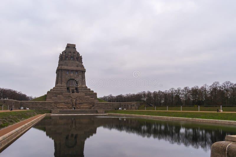 Monument ? la bataille des nations photo stock