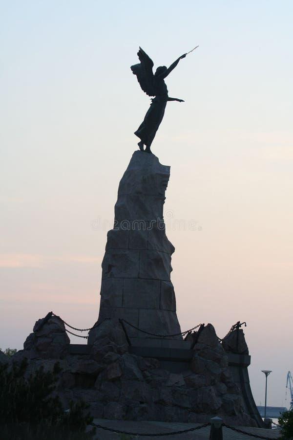 Monument la sirène à Tallinn photos libres de droits