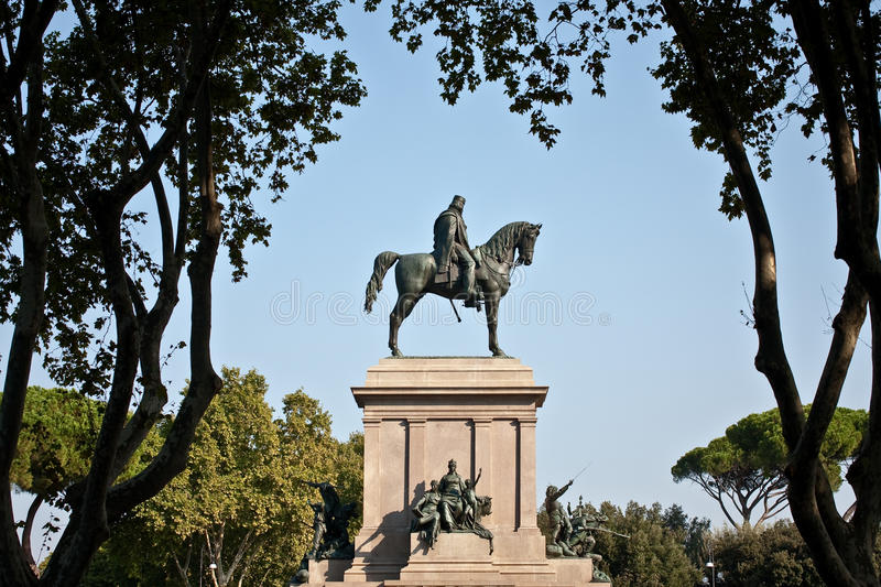 Download Monument of a leader stock photo. Image of giuseppe, trees - 21227118