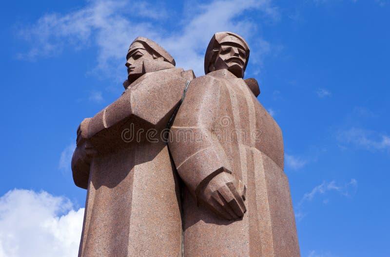 Monument letton de fusiliers à Riga photos libres de droits