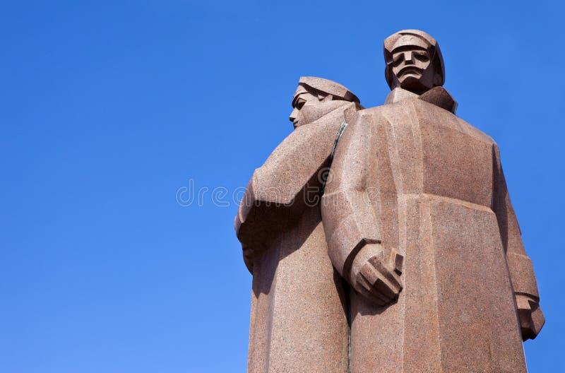 Monument letton de fusiliers à Riga photos stock