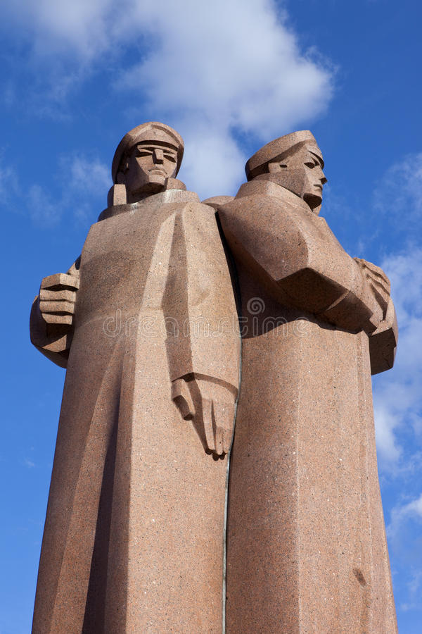 Monument letton de fusiliers à Riga photographie stock libre de droits