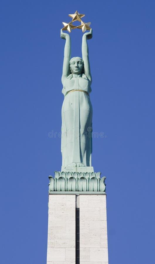 Monument letton de liberté image libre de droits