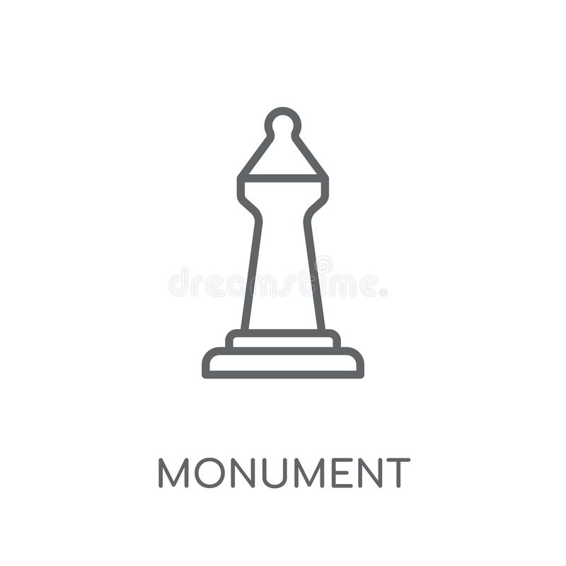 Monument linear icon. Modern outline Monument logo concept on wh stock illustration