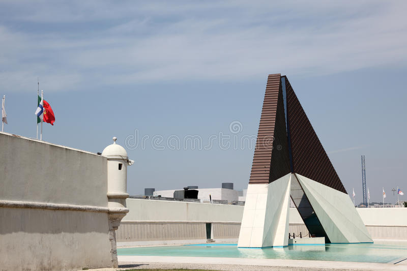 Monument in Lisbon royalty free stock photography
