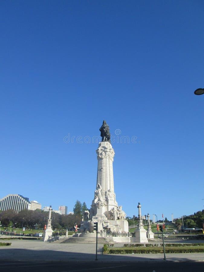 Monument in Lissabon royalty-vrije stock foto